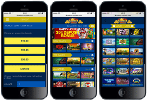 coin falls UK mobile slots sms phone bill