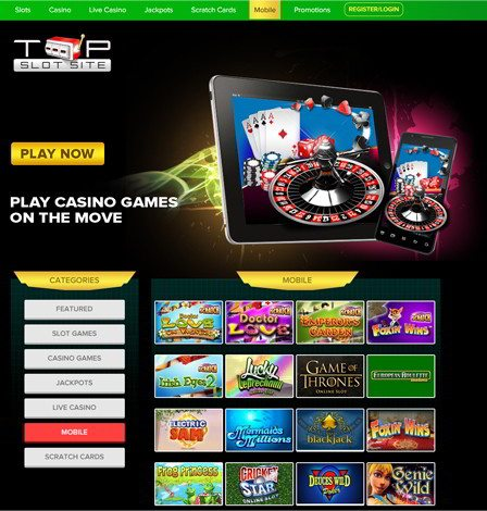 Playing Mobile Casino Sites