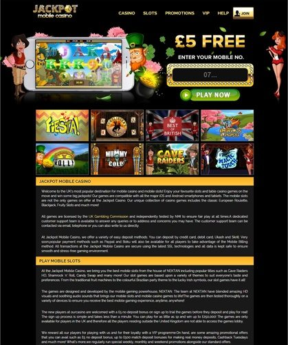 pay on your mobile casino