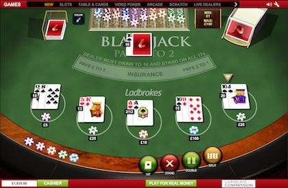 Ladbrokes Casino Freeplay Blackjack Online