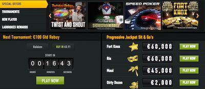 Ladbrokes Online Poker Jackpots