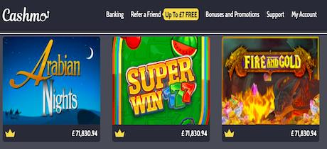 Cashmo Top Slots Online Casino